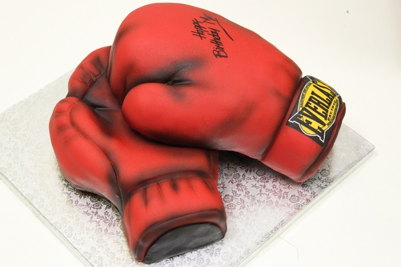 Boxing Gloves And Cake
