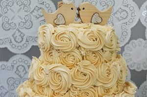 Yellow Tiered Butter Cream Cake