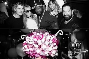 Cathy Guetta, Paris Hilton and 50 Cents Cake