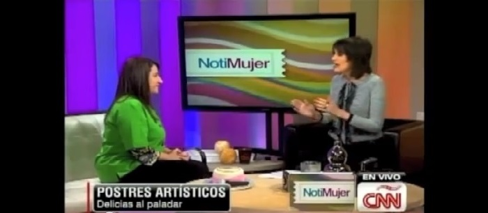 Carolina Montoya de Unique Designer's Cake en CNN Notimujer!