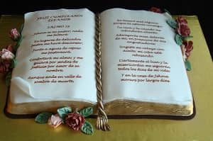 Bible Flowers Cake