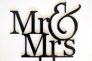 Marriage Custom Toppers