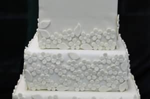 Simple Square Wedding Cakes