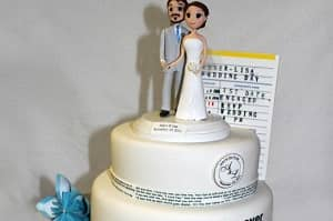 Paper Books Wedding Cakes